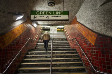 Green line D Line Stairs
